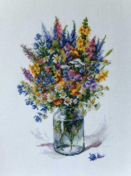 Thistle Bouquet Cross Stitch Kit, Merejka K-096