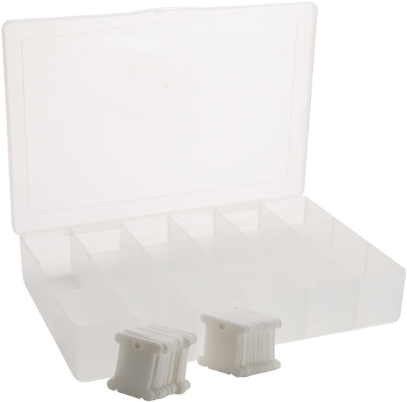 Thread Organiser Box, Storage Box with Lid and Thread Cards 50