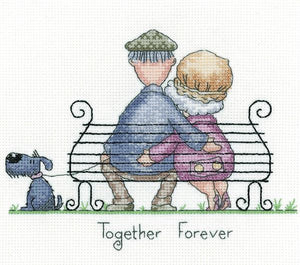 Together Forever Cross Stitch Kit, Heritage Crafts GYTF1571