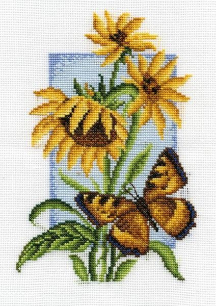 Tortoiseshell Butterfly Cross Stitch Kit, Panna B-0118