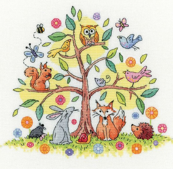 Tree of Life Cross Stitch Kit, Heritage Crafts, Karen Carter