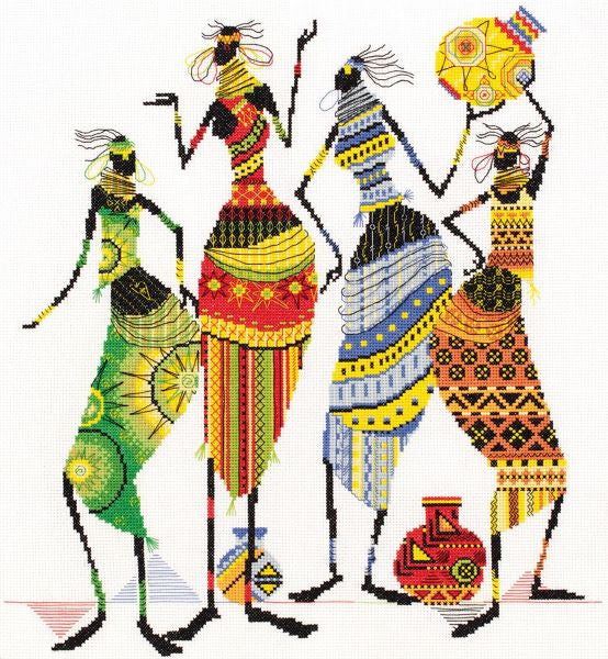 Tribal Friends Cross Stitch Kit, Panna NM-0739