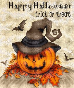 Trick or Treat Cross Stitch Kit (Luca-s) LetiStitch LETI956