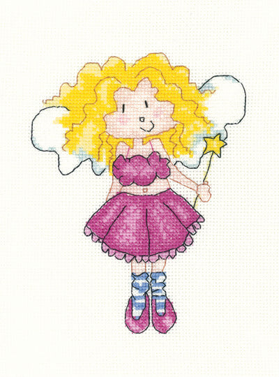 Twinkle Toes Fairy Cross Stitch Kit, Little Stars, Heritage Crafts