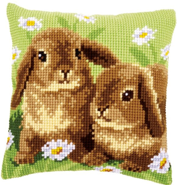 Two Rabbits CROSS Stitch Tapestry Kit, Vervaco pn-0162709