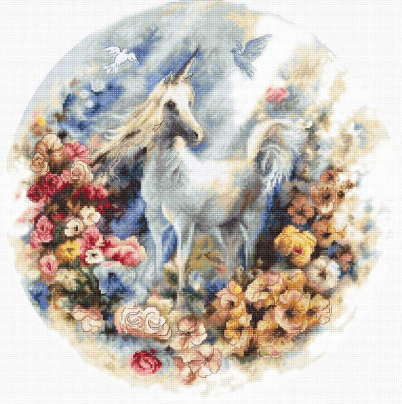Unicorn Cross Stitch Kit (Luca-s) LetiStitch LETI903