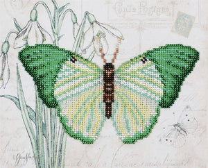 Bead Embroidery Kit Butterfly Green Bead Work Embroidery Kit VDV