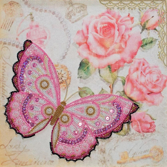 Bead Embroidery Kit Delicacy Butterfly Bead Work Embroidery Kit VDV