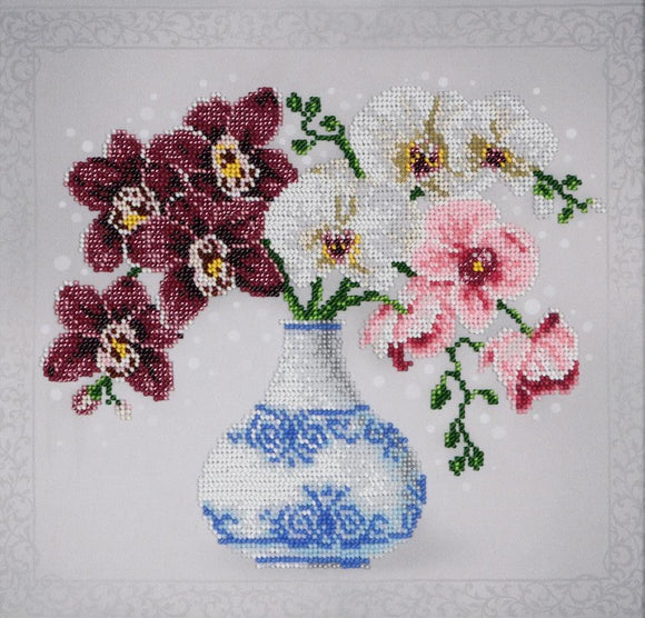 Bead Embroidery Kit Orchids Bead Work Embroidery Kit VDV