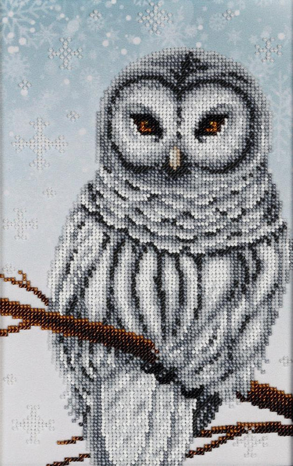 Bead Embroidery Kit Snowy Owl Bead Work Embroidery Kit VDV
