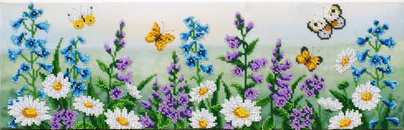 Bead Embroidery Kit Summer Meadow Bead Work Embroidery Kit VDV