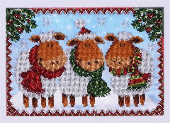 Bead Embroidery Kit Winter Sheep Bead Work Embroidery Kit VDV