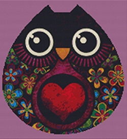 Owl Hatch Modern Counted Cross Stitch Kit -Sandra Vargas