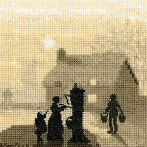 Village Pump Cross Stitch Kit, Silhouettes, Heritage Crafts