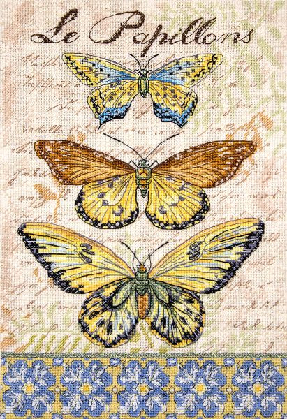 Vintage Wings Cross Stitch Kit (Luca-s) LetiStitch LETI975