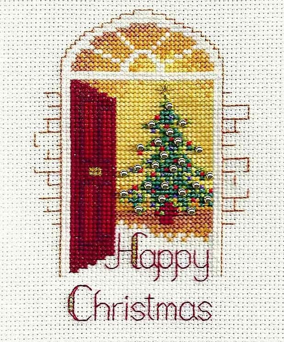 Warm Welcome Cross Stitch Christmas Card Kit, Derwentwater Designs