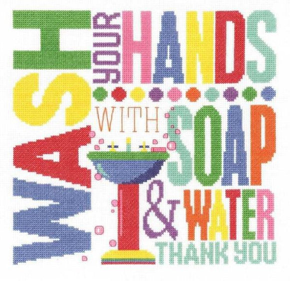 Wash Your Hands Cross Stitch Kit, Janlynn 182-0405