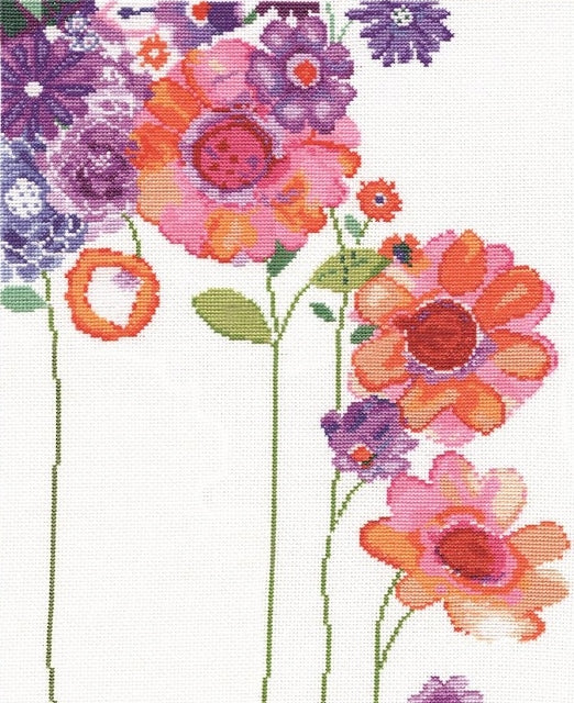 Watercolour Garden Cross Stitch Kit, Design Works 2931