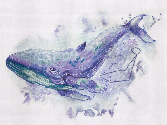 Watercolour Whale Cross Stitch Kit, Panna MT-1961