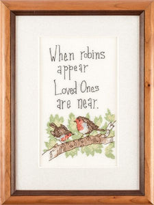 When Robins Appear Cross Stitch Kit, Heritage Crafts
