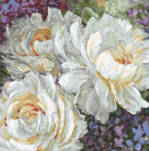 White Roses Cross Stitch Kit (Luca-s) LetiStitch LETI930
