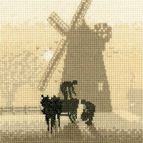 Windmill Cross Stitch Kit, Silhouettes, Heritage Crafts