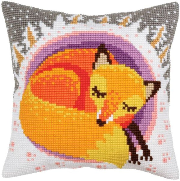 Winter Dreams Fox CROSS Stitch Tapestry Kit, Collection D'Art CD5395