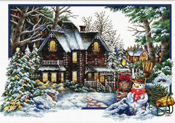 Winter Comes NO-COUNT Printed Cross Stitch Kit N740-072