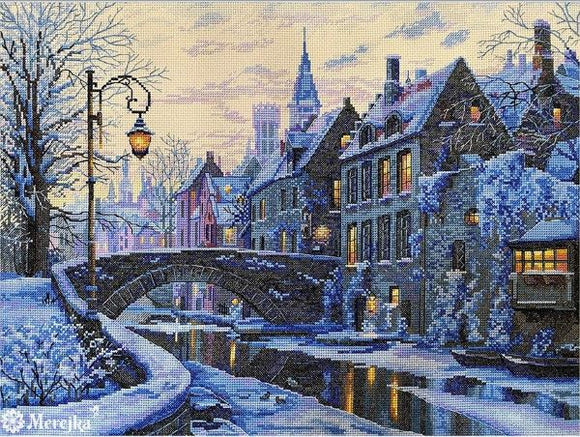 Winter Evening Cross Stitch Kit, Merejka K-169