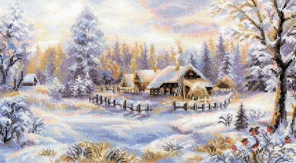 Winter Evening Cross Stitch Kit, Riolis R1427