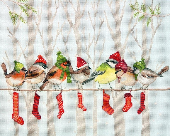 Winter Gathering Cross Stitch Kit, Dimensions D70-08970