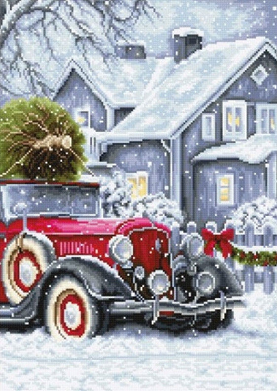 Winter Holidays Cross Stitch Kit, Luca-s BU4010