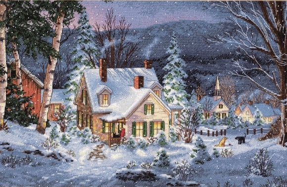 Winter's Hush Cross Stitch Kit, Dimensions D70-08862