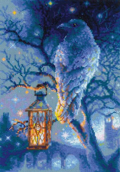 Wise Raven Cross Stitch Kit, Riolis R1876