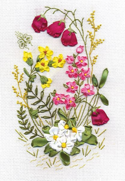 Woodland Fantasy Embroidery Kit, Ribbon Embroidery Panna C-0760