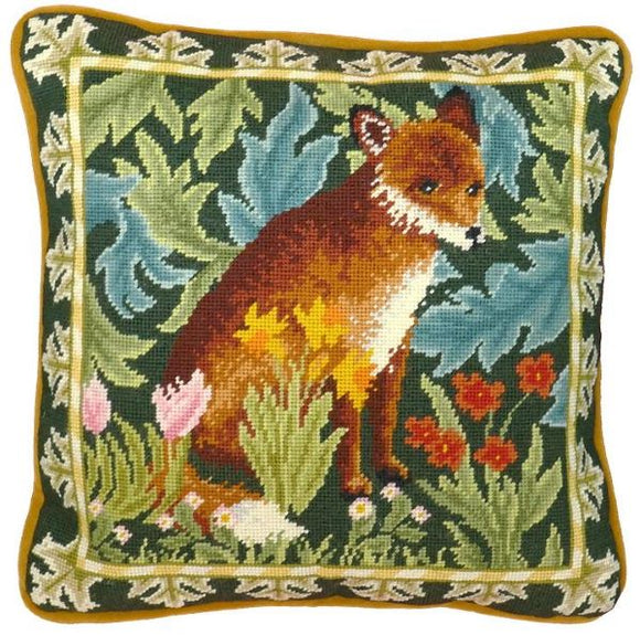 William Morris Woodland Fox Tapestry Needlepoint Kit, Bothy Threads