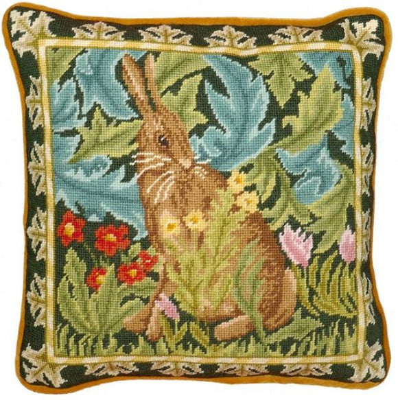 William Morris Woodland Hare Tapestry Needlepoint Kit, Bothy Threads