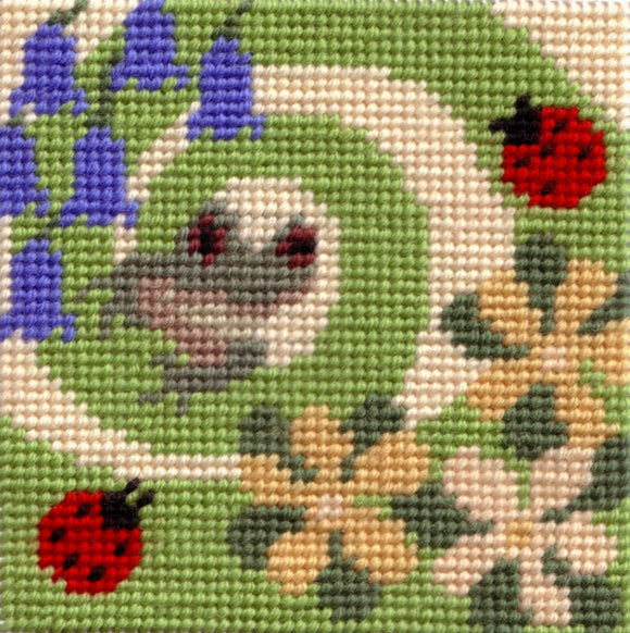 Beginners Tapestry Kit Needlepoint Kit, Woodland Spring Frog, Sew Inspiring