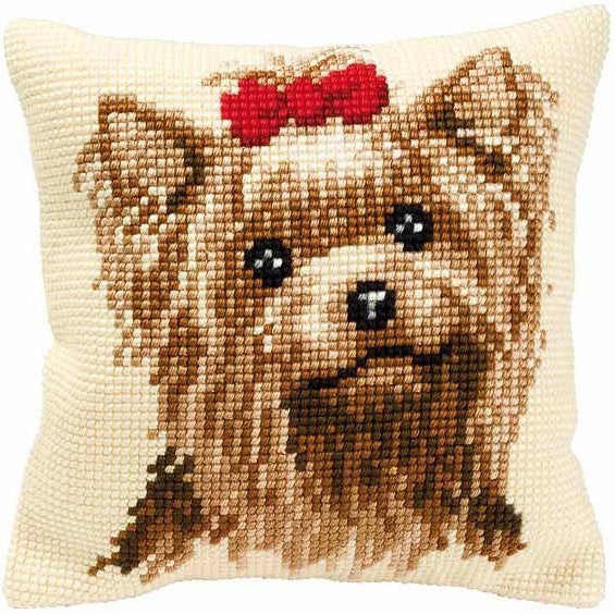 Yorkshire Terrier CROSS Stitch Tapestry Kit, Vervaco PN-0008538