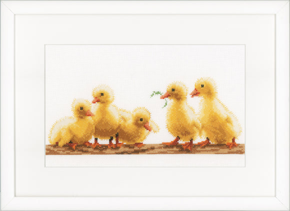 Young Ducklings Cross Stitch Kit, Vervaco pn-0153751