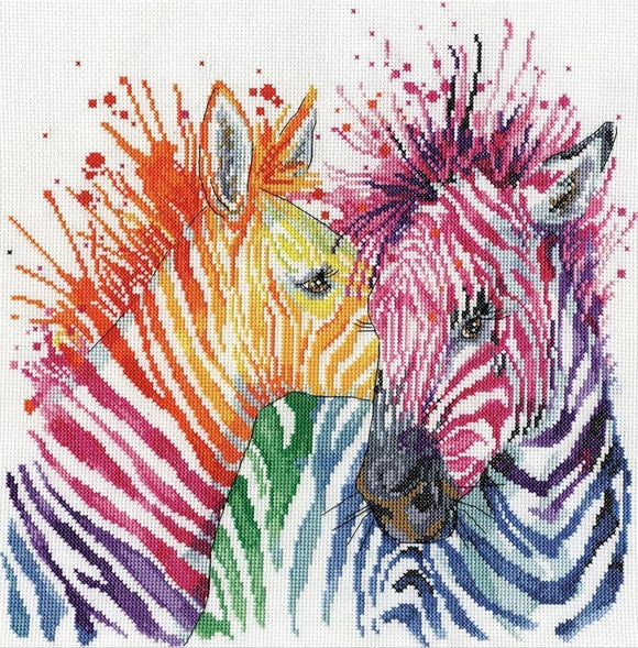 Zebras Counted Cross Stitch Kit, Design Works 3266
