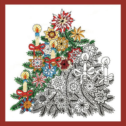 Zenbroidery Embroidery Kit, Christmas Tree 4025/4033