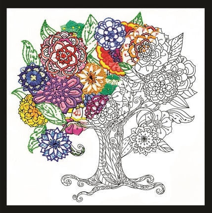 Zenbroidery Embroidery Kit, Tree of Flowers 4000/4060
