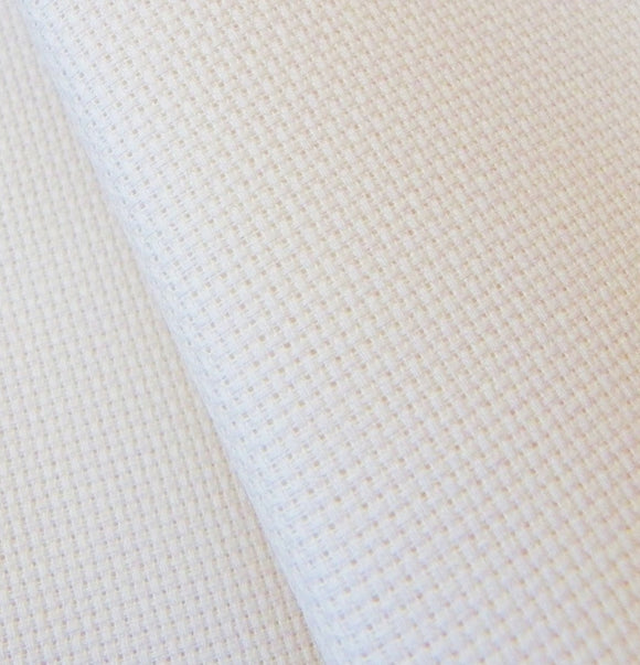 Aida 14 count LINEN Fabric, Zweigart 14ct Aida, FAT QUARTER -Antique White
