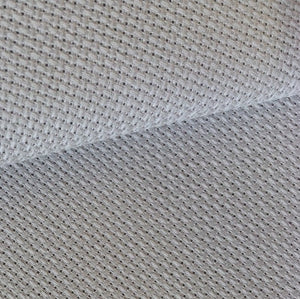 Aida 14 count Cotton Fabric, Zweigart 14ct Aida, PER METER - Pewter Grey