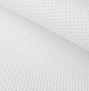 Aida 14 count Cotton Fabric, Zweigart 14ct Aida, PER METER - White