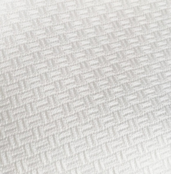 Zweigart Gerstenkorn Fabric, Huck, Swedish Weaving 8ct PER METER -White 100