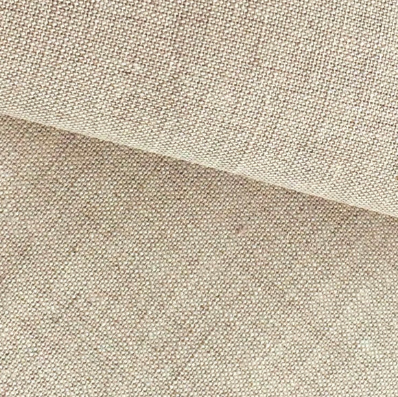 Normandie Fabric, Linen Crewel Surface Embroidery, WIDE METER -Oatmeal