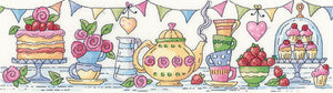Afternoon Tea Cross Stitch Kit, Heritage Crafts -Karen Carter