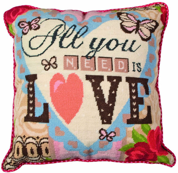 All You Need is Love Tapestry Kit Needlepoint, Anchor ALR62